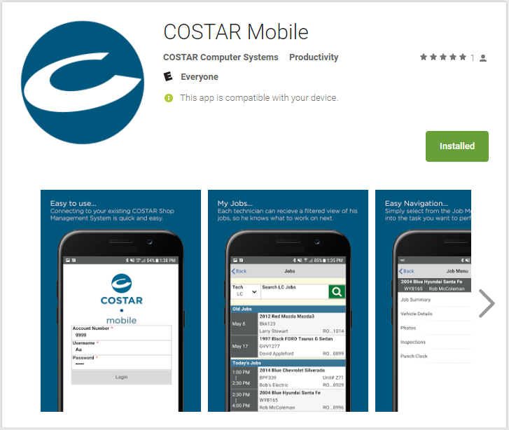 HOME - COSTAR Shop Management Software